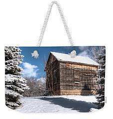 Winter Shed Weekender Tote Bag