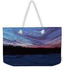 Weekender Tote Bag featuring the digital art Winter Sunset by Lauren Radke