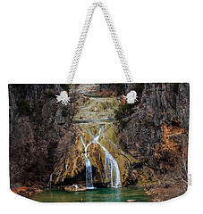 Winter Time At The Falls Weekender Tote Bag by Doug Long