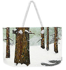 Wintering Pines Weekender Tote Bag