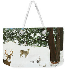 Wintering Whitetails Weekender Tote Bag