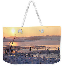 Weekender Tote Bag featuring the photograph Winter's Morning by Elizabeth Winter
