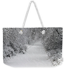 Weekender Tote Bag featuring the photograph Winter's Trail by Elizabeth Winter