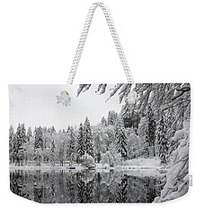 Wintery Reflections Weekender Tote Bag