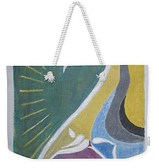Weekender Tote Bag featuring the painting Wisdom And Peace by Sonali Gangane
