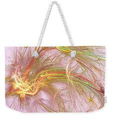 Weekender Tote Bag featuring the digital art Wispy Willow by Kim Sy Ok