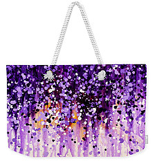 Weekender Tote Bag featuring the painting Wisteria by Kume Bryant