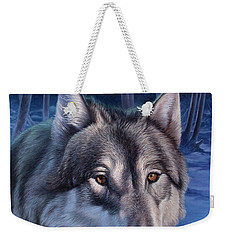 Wolf In Moonlight Weekender Tote Bag
