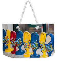 Weekender Tote Bag featuring the digital art Wooden Shoes by Carol Ailles