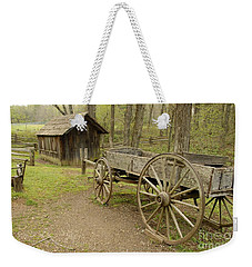 Wooden Wagon Weekender Tote Bag by Cindy Manero