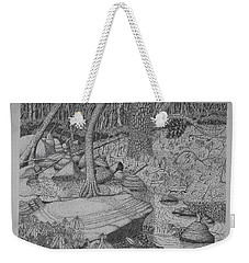 Woodland Stream Weekender Tote Bag by Daniel Reed