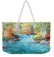 Woodland Stream Weekender Tote Bag by Irene Hurdle