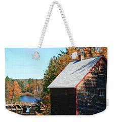 Weekender Tote Bag featuring the photograph Working Gristmill by Barbara McMahon
