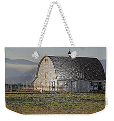 Weekender Tote Bag featuring the photograph Wrapped Barn by Mick Anderson