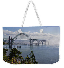 Weekender Tote Bag featuring the photograph Yaquina Bay Bridge by Mick Anderson