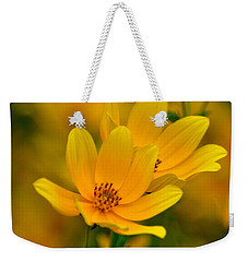 Weekender Tote Bag featuring the photograph Yellow Blaze by Marty Koch