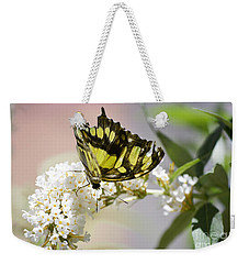 Yellow Butterfly Beauty Weekender Tote Bag by Andrea Hazel Ihlefeld
