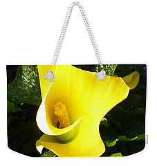 Yellow Calla Lily Weekender Tote Bag by Carla Parris