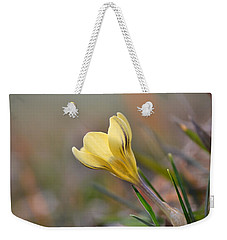 Yellow Crocus Weekender Tote Bag