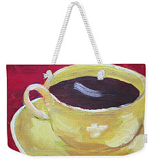 Yellow Cup On Red Weekender Tote Bag