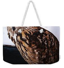 Yellow-eyed Owl Side Weekender Tote Bag