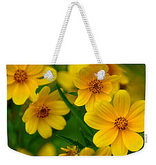 Weekender Tote Bag featuring the photograph Yellow Flowers by Marty Koch