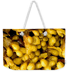 Weekender Tote Bag featuring the photograph Yellow Kelp Pods by Brent L Ander