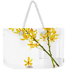 Yellow Orchid Bunchs Weekender Tote Bag