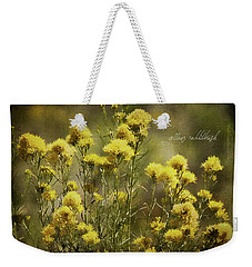 Yellow Rabbitbrush Weekender Tote Bag by Lana Trussell