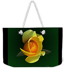 Yellow Rose Weekender Tote Bag by Rand Herron