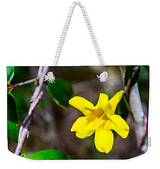 Weekender Tote Bag featuring the photograph Yellow by Shannon Harrington
