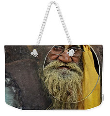 Yellow Turban At The Window Weekender Tote Bag by Valerie Rosen