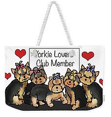 Yorkie Lovers Club Member Weekender Tote Bag