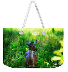 Young Deer Weekender Tote Bag by Peggy Franz