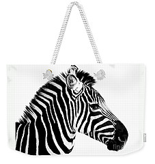 Zebra Weekender Tote Bag by Rebecca Margraf