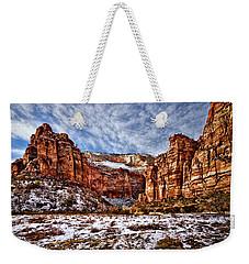 Zion Canyon In Utah Weekender Tote Bag