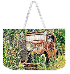 Weekender Tote Bag featuring the photograph  Abandoned by Susan Leggett