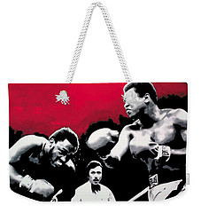 - Ali Vs Fraser - Weekender Tote Bag by Luis Ludzska