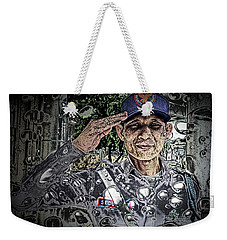 Bank Security Officer - On A Rainy Day Weekender Tote Bag by Ian Gledhill