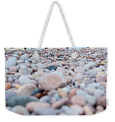 Beach Huts And Pebbles Weekender Tote Bag