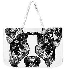 Boston Terrier Dog Black And White Art - Sharon Cummings Weekender Tote Bag