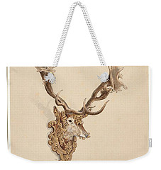 Weekender Tote Bag featuring the painting , Buck Head by Artistic Panda