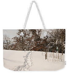Christmas Snow Trail Weekender Tote Bag