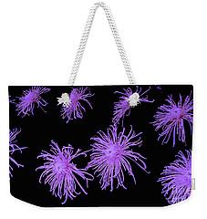 Chrysanthemums In Purple Weekender Tote Bag