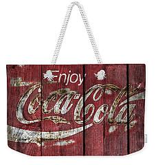 Coca Cola Sign Barn Wood Weekender Tote Bag