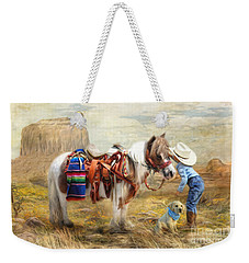 Cowboy Up Weekender Tote Bag