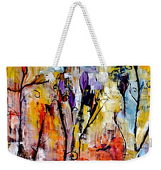 Crazy Messy Fall Yard Art Weekender Tote Bag by Lisa Kaiser