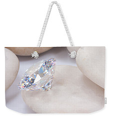 Diamond On White Stone Weekender Tote Bag