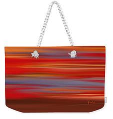 Weekender Tote Bag featuring the digital art  Evening In Ottawa Valley by Rabi Khan