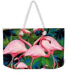 Flamingo Weekender Tote Bag by Mark Ashkenazi